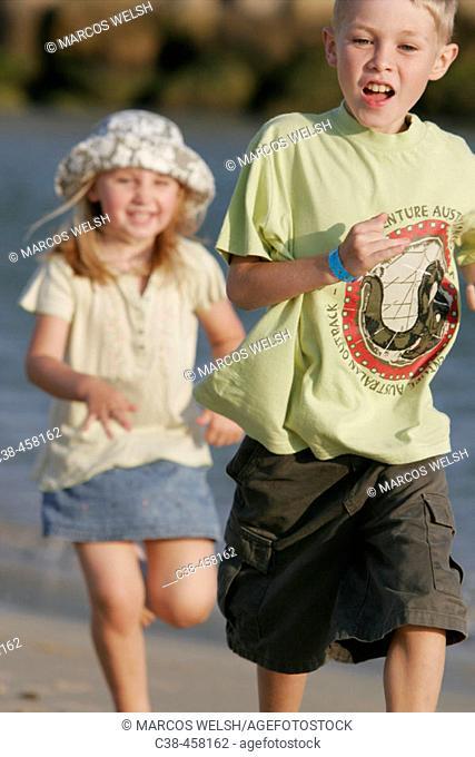 Girl Runnig After Boy