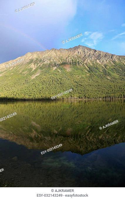 Lake reflection in British Columbia, Canada