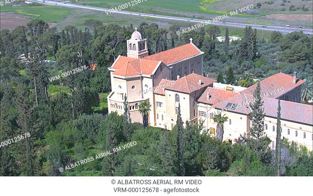Aerial footage of the Trappists Monastery in Latrun