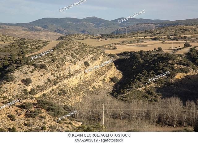 Landscape near Nuevalos, Aragon, Spain, Europe