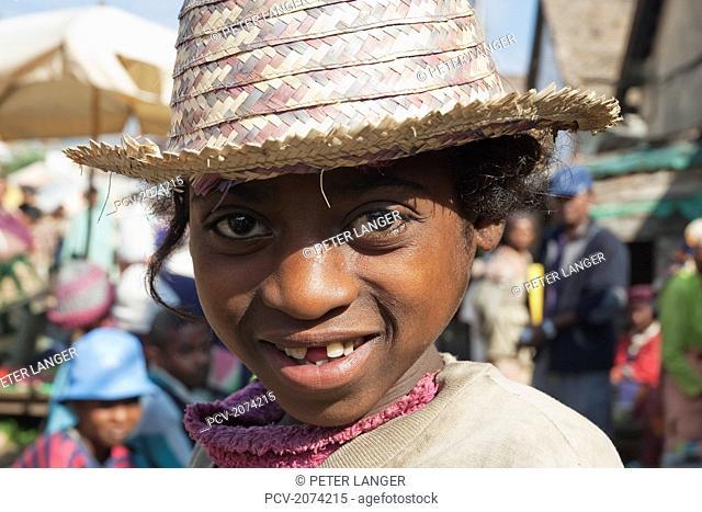 Girl At The Weekly Market In Fianarantsoa, Madagascar