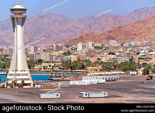 Jordan, mooring, harbor, Aqaba