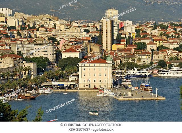 view from the Marjane Hill viewpoint, Split, Croatia, Southeast Europe