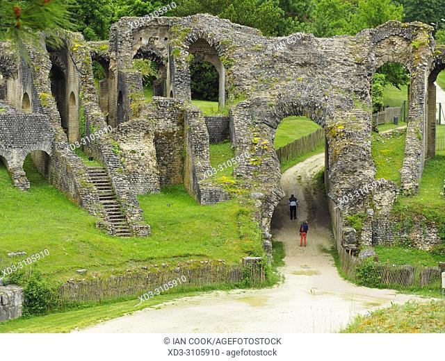 Gallo-Roman Amphitheatre, Saintes, Charente-Maritime Department, Nouvelle-Aquitaine, France
