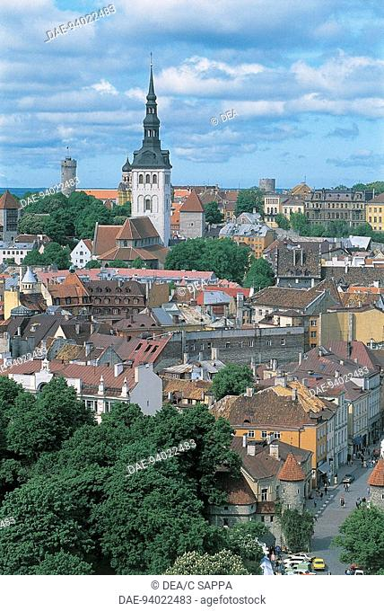 Estonia - Tallinn - Old Town (Vanalinn), UNESCO's World Heritage Site, 1997 - Panoramic view