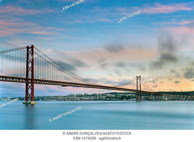 25th of April Bridge, Lisbon, Portugal, Europe