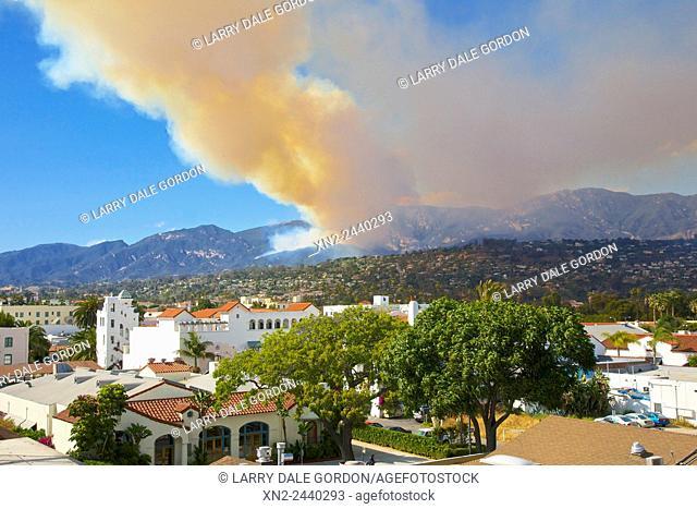 Wild Fire - Santa Ynez Mountains. Santa Barbara County. California. USA