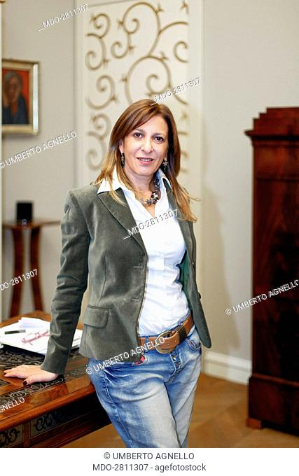 The deputy state attorney and Antimafia Commission consultant Marzia Sabella posing in her study. She's the only woman in the judges pool that arrested the boss...