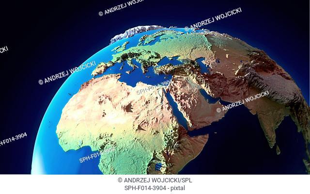 Topological globe, illustration