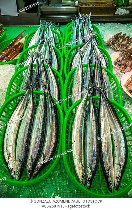 Fish. Ohmicho Market. Kanazawa. Houshu Island. Ishikawa Prefecture. Japan