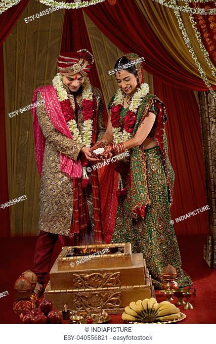 Traditional Indian wedding ceremony