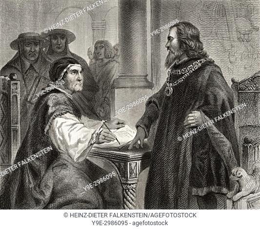 Sigismund of Luxemburg, 1368-1437, Holy Roman Emperor and Antipope John XXIII or Baldassarre Cossa, c. 1370 - 1419