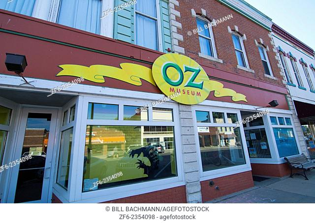 Wamego Kansas home of Oz Museum from The Wizard of Oz going home to Kansas in downtown village on Lincoln Avenue