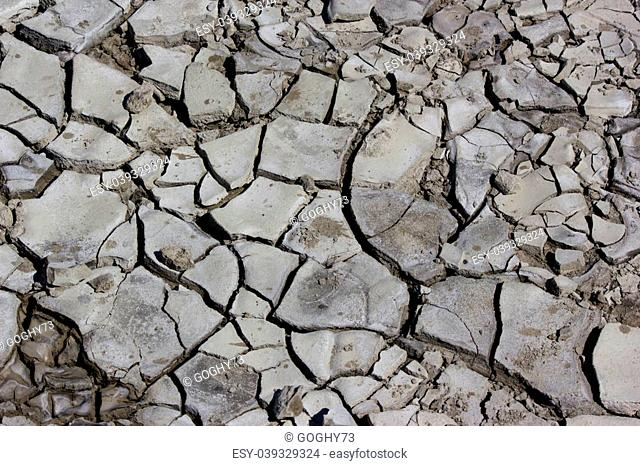 The dry earth cracked by drought