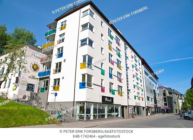 Residential housing Ulikooli street central Tartu Estonia the Baltic States Europe