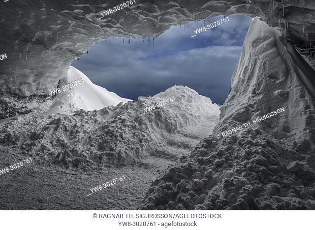 The Crystal Cave, Breidamerkurjokull Glacier, Iceland.