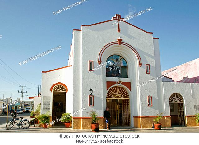 The church in San Miguel, Cozumel, Mexico
