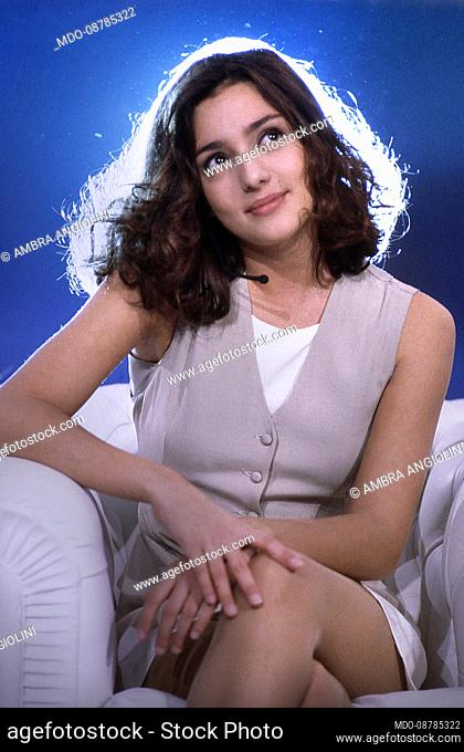 The Italian presenter and actress Ambra Angiolini..The television program, Non è la Rai celebrates 30 years since its first broadcast