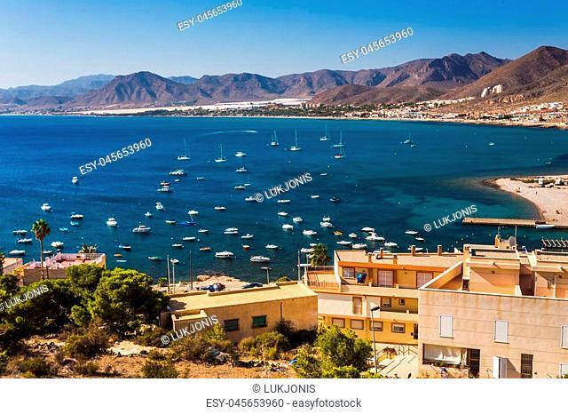 La Azohia city, Murcia in Mediterranean sea Spain