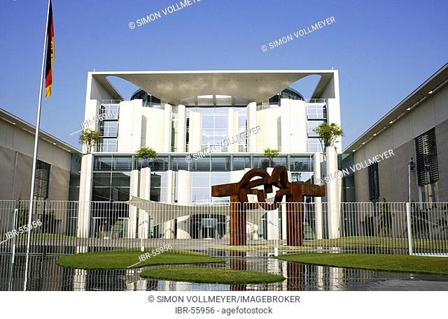 Federal Chancellery central tract with fence