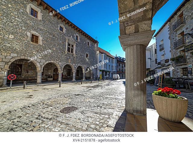 Bielsa council Historic building. Pineta Valley, Huesca Pyrenees, Aragón, Spain