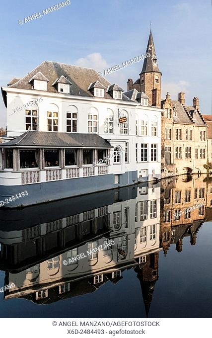 Water canal in Bruges, Belgium