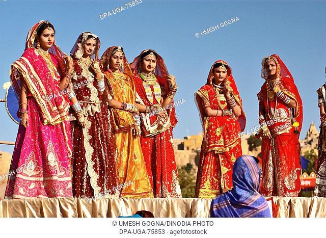 Miss Moomal Competition , Desert Festival 2004 , Jaisalmer , Rajasthan , India