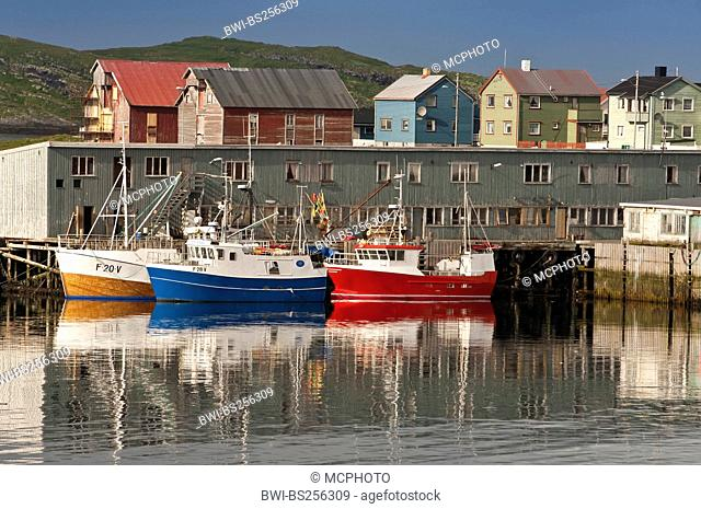 fishing boats in port of Vadso, Norway, Vadso