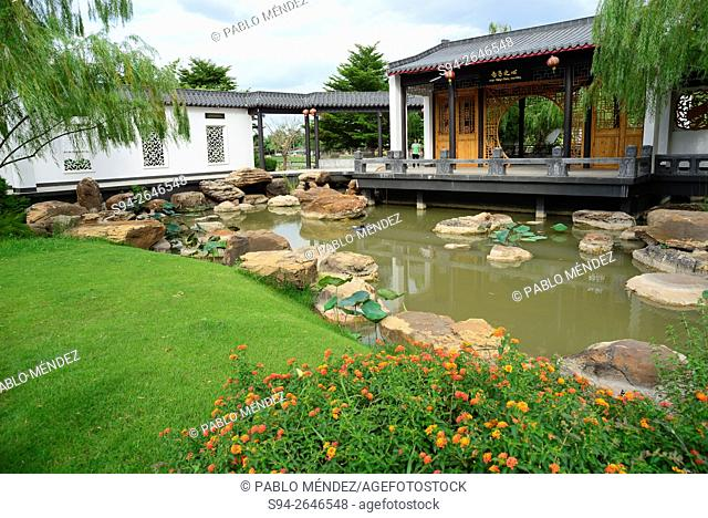 Gardens of Chinese-Thai cultural center of Udon Thani, Thailand