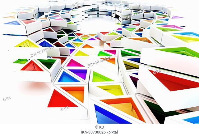 Multicolored connecting triangles