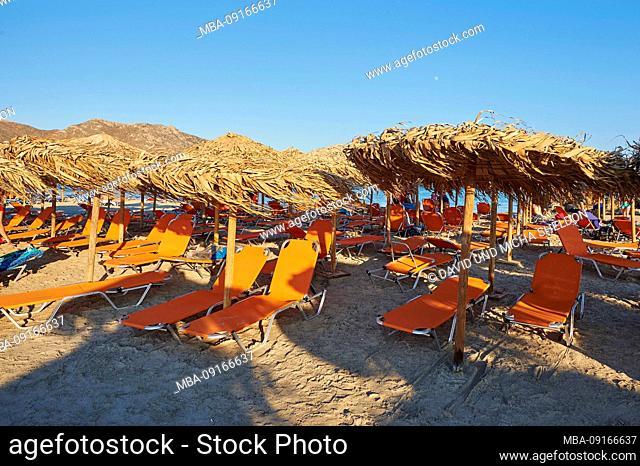 Landscape from Elafonisi beach, Crete, Greece