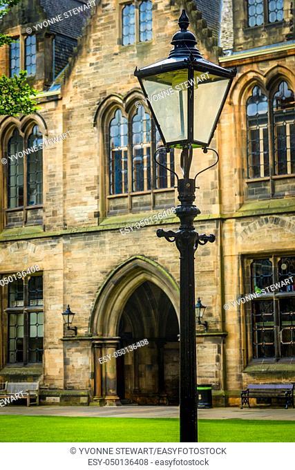 Antique Street Light in Glasgow, Scotland