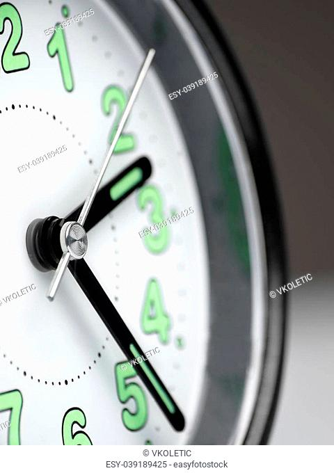clock closeup with shallow DOF, useful for various time related themes