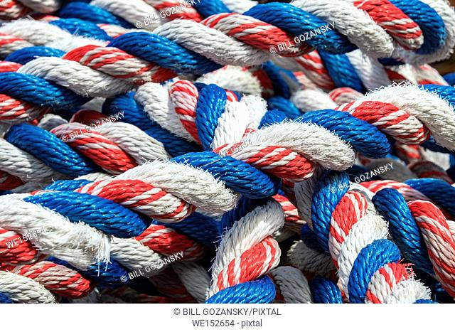 Colorful nautical rope - St. John's, Avalon Peninsula, Newfoundland, Canada