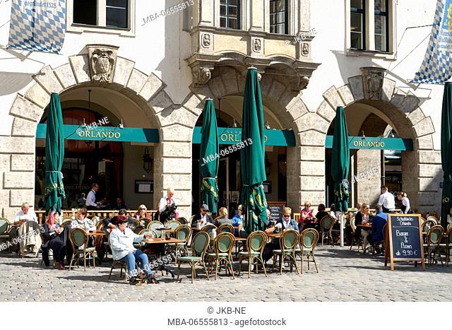 Germany, Bavaria, Munich, old town, Schuhbecks Orlando, am Platzl, restaurant, outside