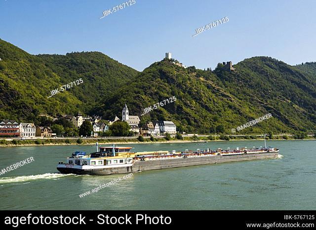Gutenfels Castle, Kaub, Upper Middle Rhine Valley, Rhineland-Palatinate, Germany, Europe