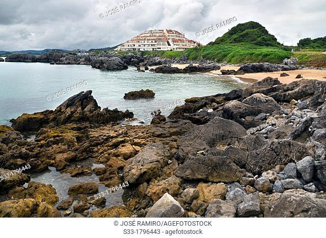 Arnadal beach  Noja  Santander  Cantabria  Spain