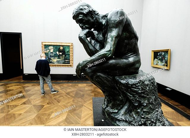 Rodin's The Thinker at Alte Nationalgalerie on Museumsinsel, Berlin, Germany