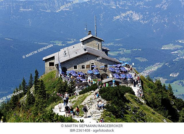 Kehlsteinhaus or Eagle's Nest, Kehlstein Mountain, Berchtesgaden, Berchtesgadener Land, Upper Bavaria, Bavaria, Germany, Europe