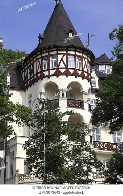 Czech Republic, Karlovy Vary, villa, house, historic architecture,