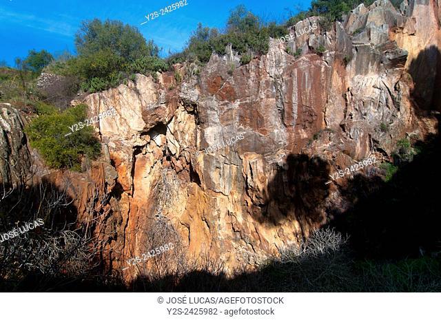 Natural monument -Mina La Jayona-, Fuente del Arco, Badajoz province, Region of Extremadura, Spain, Europe