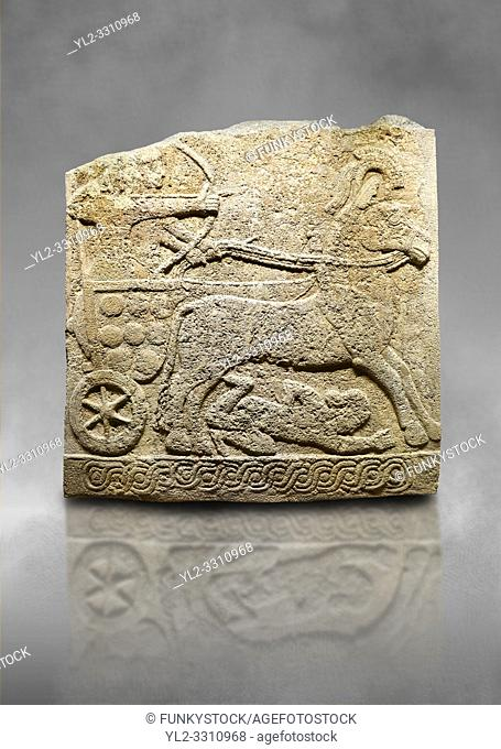 Hittite relief sculpted orthostat stone panel of Long Wall Limestone, Karkamıs, (Kargamıs), Carchemish (Karkemish), 900 -700 B. C