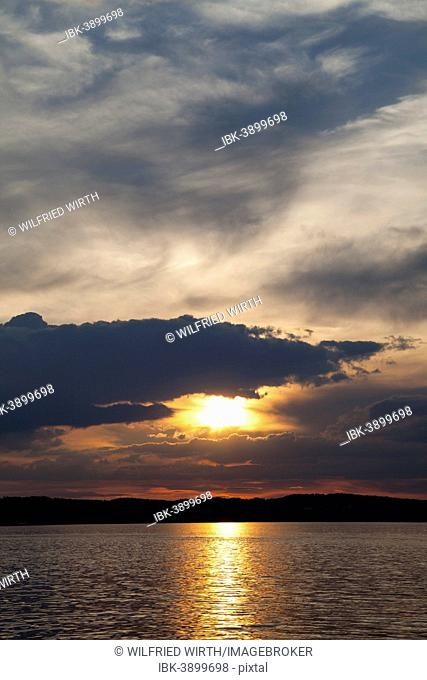 Sunset over Lake Constance, Meersburg, Baden-Württemberg, Germany