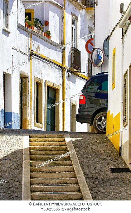 Europe, Portugal, Algarve, Faro district, Lagos, old town, characteristic narrow up and down streets