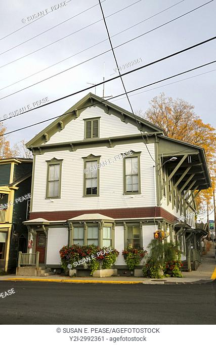 Building housing the Town of Wilmington Police Department, Wilmington, Vermont, United States, North America