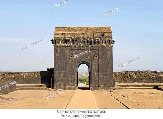 Entrance gate to Chatrapati Shivaji Maharaj Samadhi , Raigad Fort, Maharashtra, India
