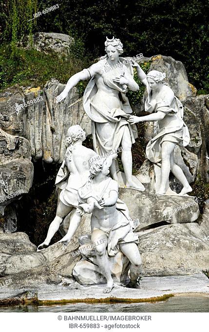 Casterta Campania Italy Italia Royal Palace castle garden cascade fountain Diana and Aktaion