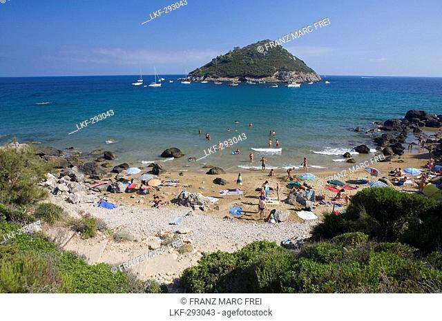 Beach Riva del Marchese near Porto Ercole at Monte Argentario, Maremma, Tuscany, Italy