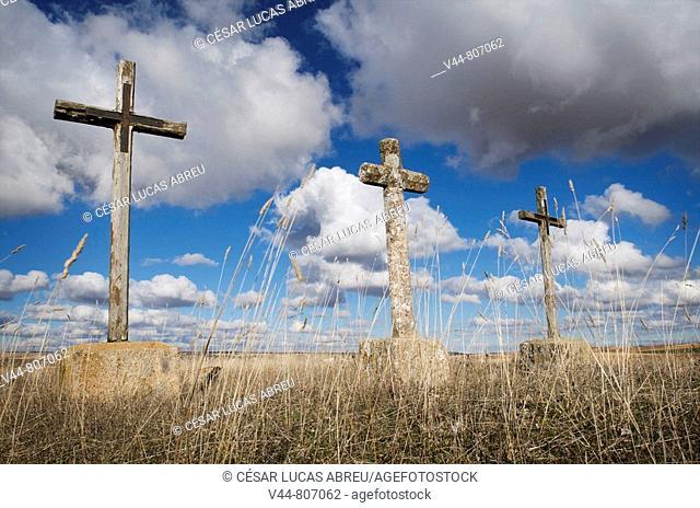 Crosses, San Pedro de Gaillos near Pedraza. Segovia province, Castilla-Leon, Spain