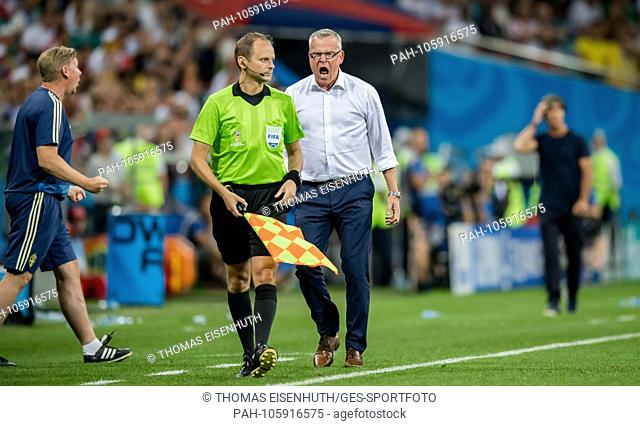 coach Janne Andersson (Sweden) GES / Football / World Championship 2018 Russia: Germany - Sweden, 23.06.2018 GES / Soccer / Football / Worldcup 2018 Russia:...